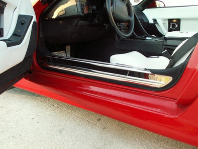 C4 Corvette Doorsills Polished Stainless 2Pc 1988-1996 - [Corvette Store Online]