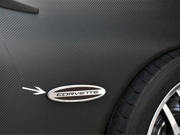 C5/Z06 Corvette Side Marker Trim |Rear |2pc | Corvette Script - [Corvette Store Online]