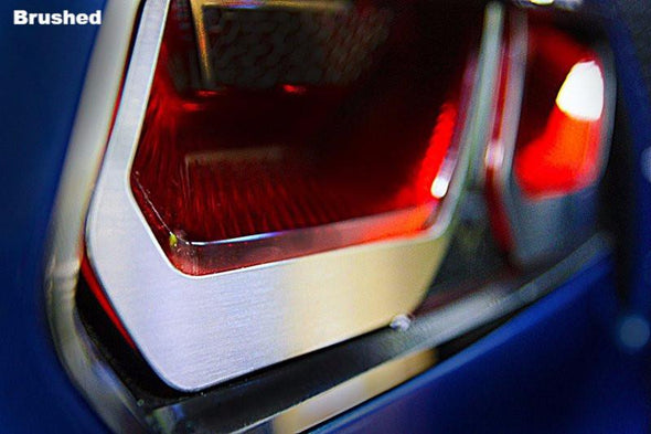 C7 Corvette | 8pc Tail Light Bezel Trim | Etched Emblem - [Corvette Store Online]