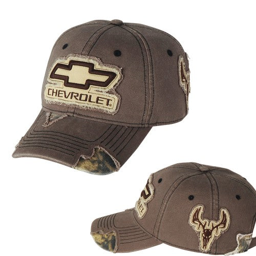 Chevy Camo Frayed Buck Patch Cap - [Corvette Store Online]