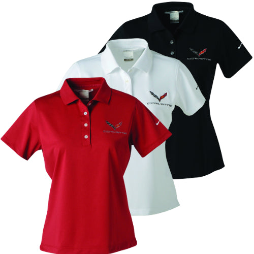 C7 Corvette Ladies Nike Dri-Fit Polo - [Corvette Store Online]