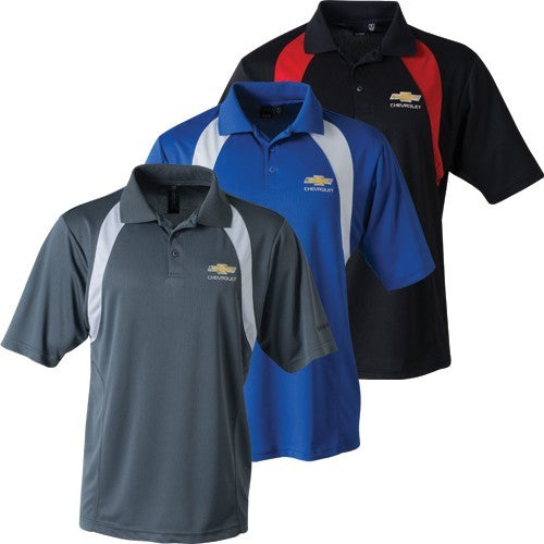 Chevrolet Bowtie Men's Reebok Playdry Athletic Polo - [Corvette Store Online]