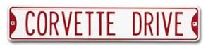 Corvette Tin Street Sign - [Corvette Store Online]