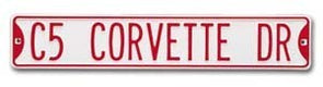 C5 Corvette Tin Street Sign - corvettestoreonline-com