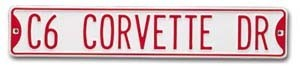 C6 Corvette Tin Street Sign - corvettestoreonline-com