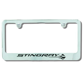 Stingray Emblem Chrome Plate Frame - [Corvette Store Online]