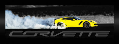 Corvette Z06 Burnout Color Framed Artwork