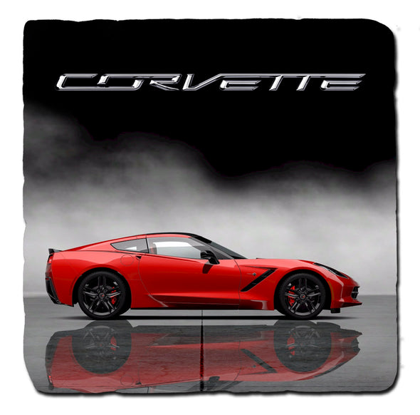 C7 Corvette Generations 2014 Stone Coaster