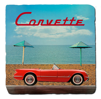C1 Corvette Generations 1954 Stone Coaster