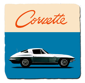C2 Corvette Generations 1963 Stone Coaster