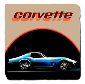C3 Corvette Generations 1974 Stone Coaster