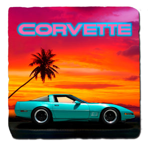 C4 Corvette Generations 1985 Stone Coaster