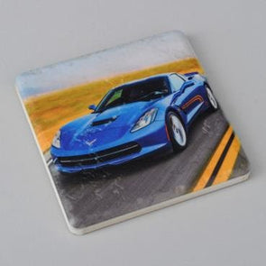 C7 Corvette Blue Coupe Stone Coaster