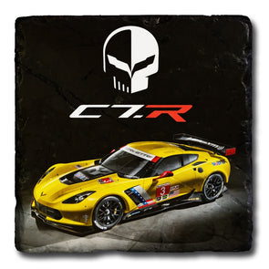 Corvette Racing C7R Stone Coaster