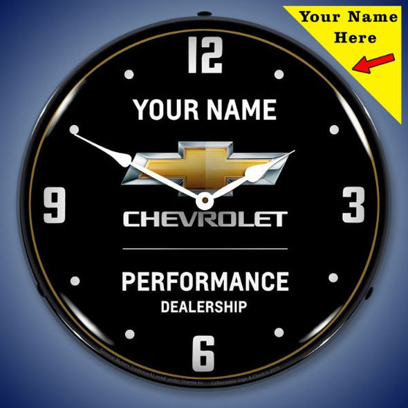 Chevrolet Performance 2 Lighted Clock- Personalize Option - [Corvette Store Online]