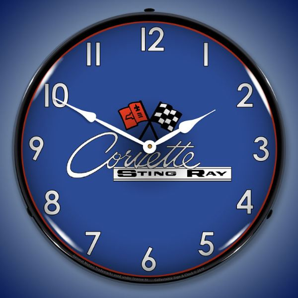 C2 Corvette Lighted Clock Profile - [Corvette Store Online]
