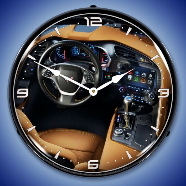 C7 Corvette Dash Lighted Clock - [Corvette Store Online]