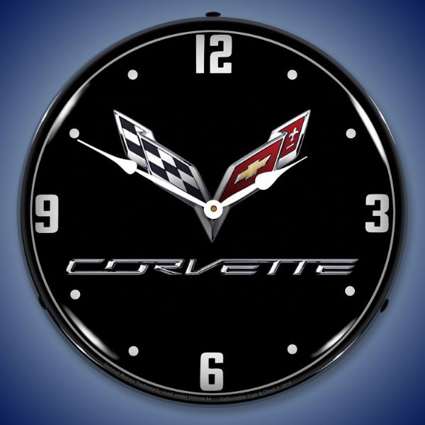 C7 Corvette Black Tie Lighted Clock Profile - [Corvette Store Online]