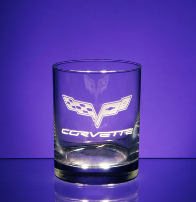 Corvette Logo Short Beverage Glass (4)