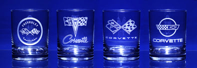Corvette Early Generations C1-C4 Short Beverage Glass (4)