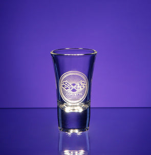 Corvette Logo Shot Glass (Large Flared)
