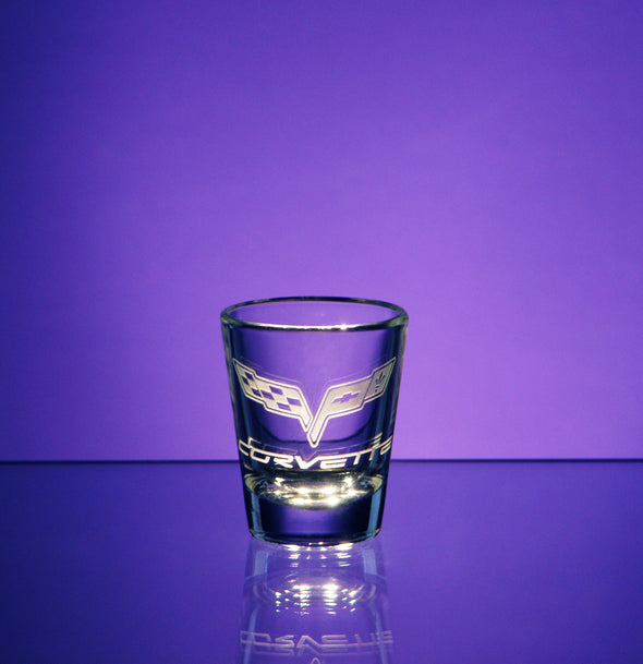 Corvette Logo Shot Glass (Tapered)