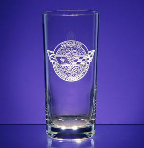 Corvette Logo Tall Beverage Glass (4)