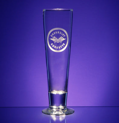 Corvette Logo Tall Pilsner Glass (2)