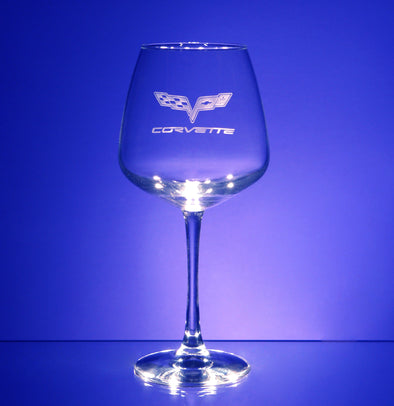 Corvette Logo Vina Balloon Wine Glass (2)