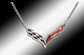C7 Corvette Emblem Necklace | Sterling Silver - [Corvette Store Online]