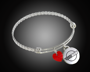 C4 Corvette Twisted Bangle Charm Bracelet - [Corvette Store Online]