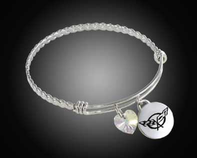 C5 Corvette Twisted Bangle Charm Bracelet - [Corvette Store Online]