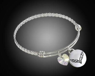 C7 Corvette Twisted Bangle Charm Bracelet - [Corvette Store Online]
