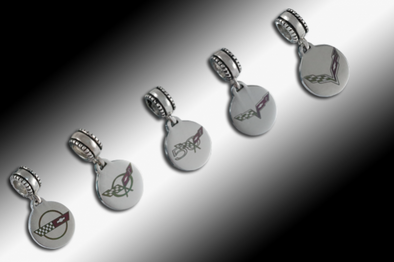 Corvette Pandora-Style Color Dangle Bead C4-C7 - [Corvette Store Online]