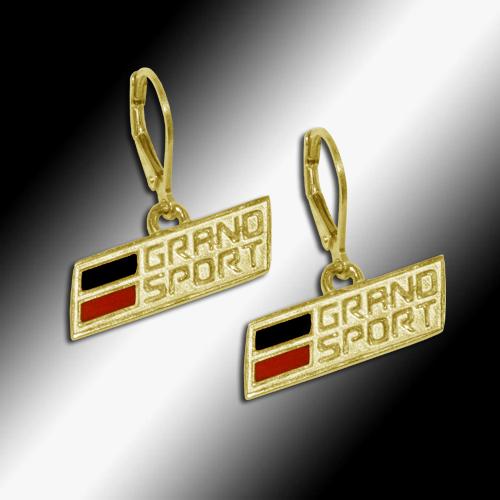 C7 Corvette Grand Sport Leverback Earrings- 14k Gold - [Corvette Store Online]