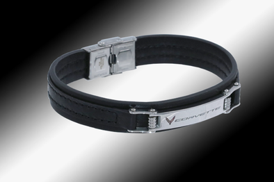 C8 Corvette Next Generation Leather Bracelet - [Corvette Store Online]