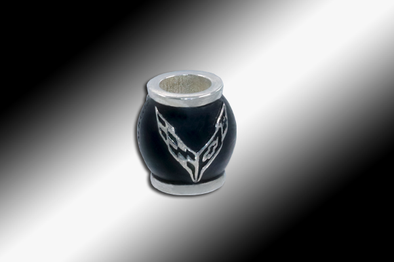 C8 Next Generation Corvette Logo Pandora-Style Slide-On Bead - [Corvette Store Online]