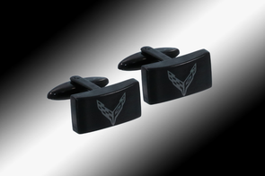 C8 Corvette Next Generation Black Cufflinks - [Corvette Store Online]