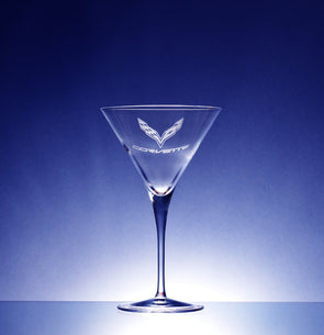 Corvette Logo Luigi Bormoili Crescendo Martini Glass (2)