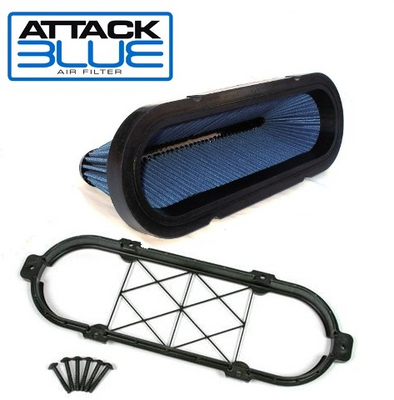 LS9 Corvette Attack Blue High Performance Filter | Large Hp Gains | Brace Included - [Corvette Store Online]