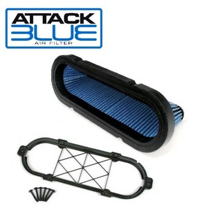 C6 Corvette Attack Blue Replacement Filter| Brace Included |  Late 2012 - 2013 - [Corvette Store Online]