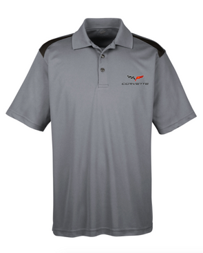 C6 Corvette Men's Polo Shirt-Heather Grey