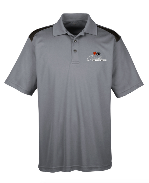 C2 Corvette Men's Polo Shirt-Heather Grey