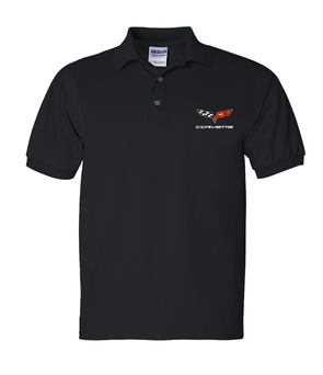 C6 Corvette Men's Polo Shirt-Black