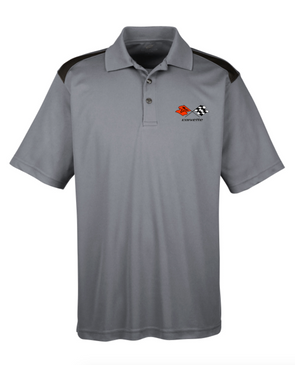 C3 Corvette Men's Polo Shirt-Heather Grey