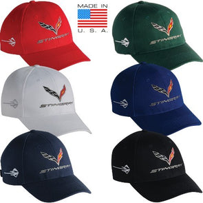 C7 Corvette Stingray Cap Made In USA - corvettestoreonline-com