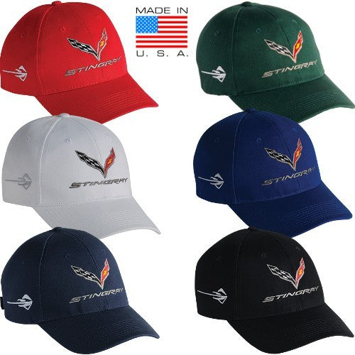 C7 Corvette Stingray Cap Made In USA - [Corvette Store Online]