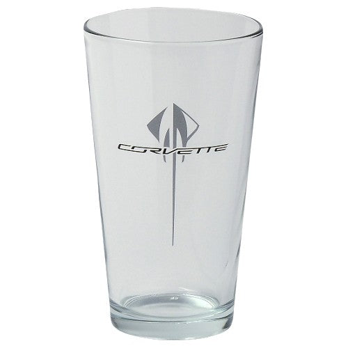 Corvette Stingray 16oz Glass - [Corvette Store Online]