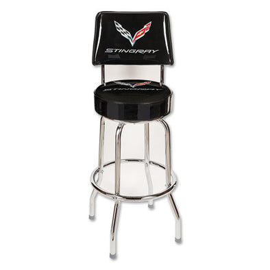 Corvette Stingray Counter Stool with Back - [Corvette Store Online]