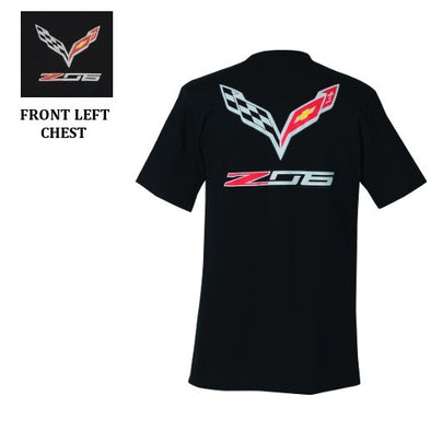 C7 Corvette Z06 With Flags Tee - [Corvette Store Online]